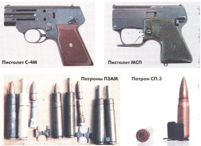 Бесшумный малогабаритный специальный пистолет С4М