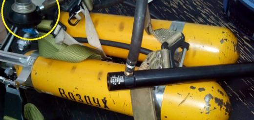 Заправка PCP винтовки с помощью дыхательного аппарата МЧС